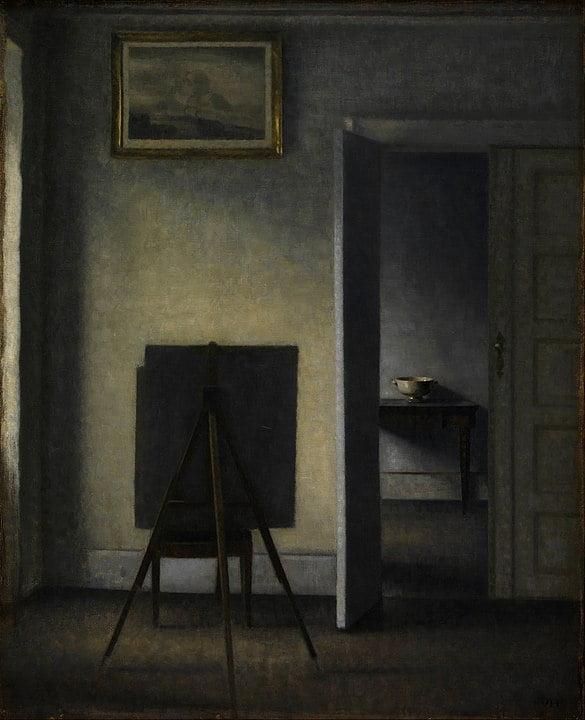 exposition - 585px Vilhelm Hammersh  i   Interior with the Artists Easel   Google Art Project - Hammershoï chez Jacquemart-André
