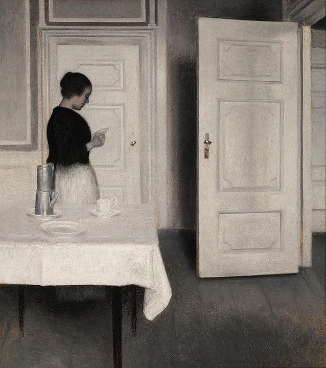 exposition - 638px Hammershoi Ida Reading a Letter - Hammershoï chez Jacquemart-André