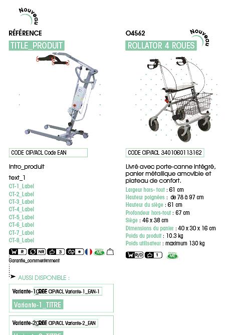 Création de catalogue automatisé : Fiche produit