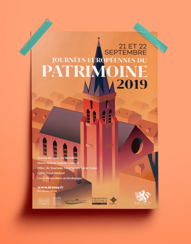 Affiche journée du patrimoine Brunoy journées du patrimoine - A3 Poster Mockup vol 12 802x1024 - Journées du Patrimoine