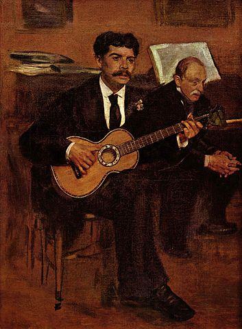 degas - 353px Edgar Degas   Lorenzo Pagans et Auguste de Gas - Degas à Orsay