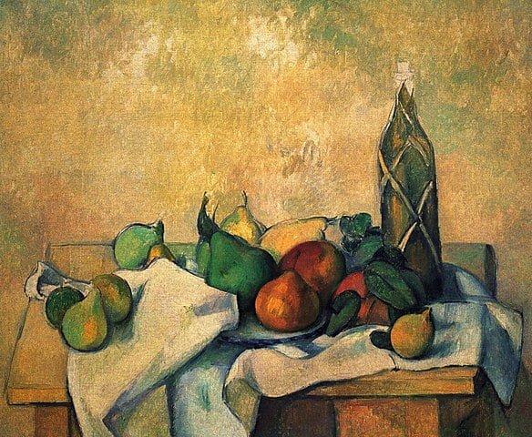 - 584px Bouteille de liqueur par Paul Ce  zanne Yorck - Cézanne chez Monet !